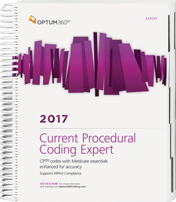 Current Procedural Coding Expert 2017 Spiral Book Cover